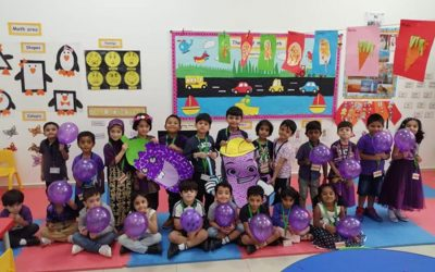 City School KG Students Celebrated Purple Day.